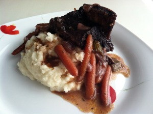 Braised Short Ribs and Goat Cheese Mash
